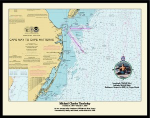 Compass Rose with Photo sample of the Nautical Memory chart