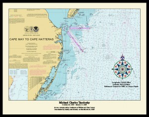 Compass Rose Sample of the Nautical Memory Chart