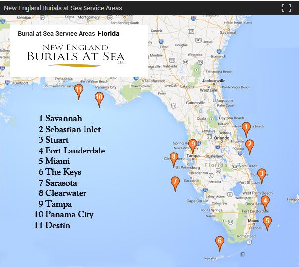 Florida Burials At Sea New England Burials At Sea - Where is florida