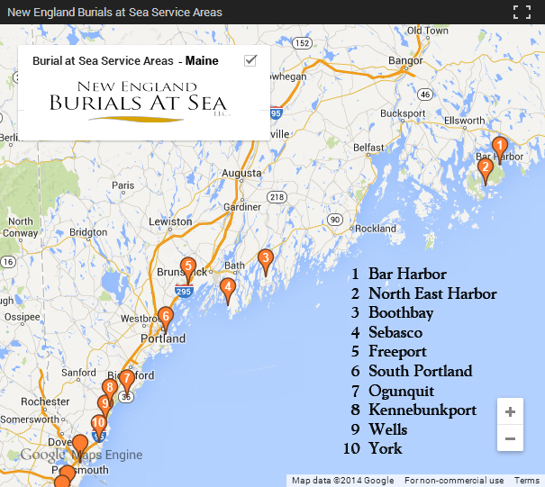 Maine Burials at Sea Locations