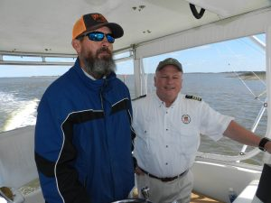 Captains Britton Shackleford and Brad White in the Outer Banks