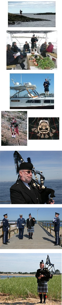 Bag Pipers Available for Burials at Sea