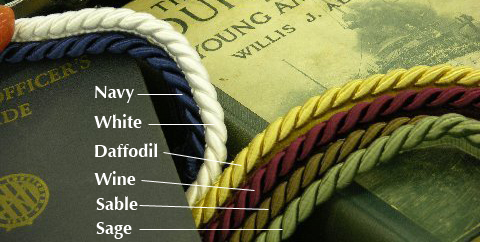 Color Samples for Rope Piping