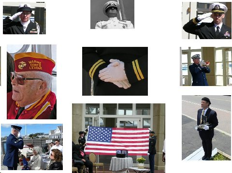 Burial at Sea Military Honors Collage