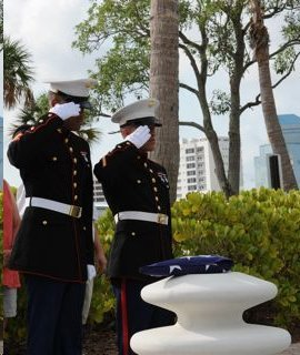 Dockside Honor Guard Ceremony Before Burial At Sea