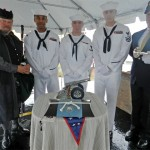 Honor Guard During Military Burial At Sea