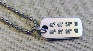 Coordinates™ Dog Tag - Large
