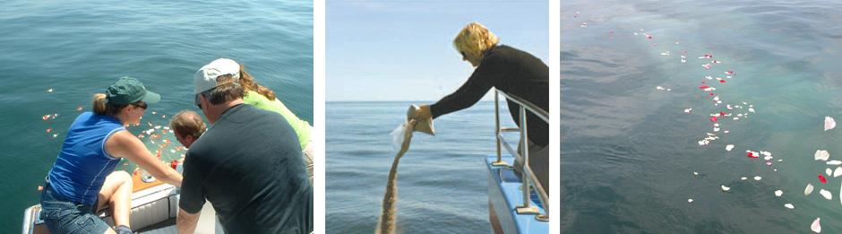Ash Scatterings at Sea