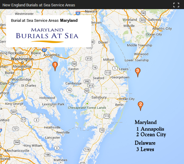 Maryland Burials at Sea Ports of Departure