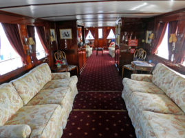 Interior of Honey Fitz presidential yacht