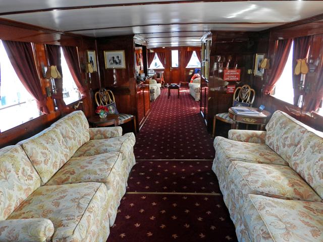 Interior of Honey Fitz presidential yacht
