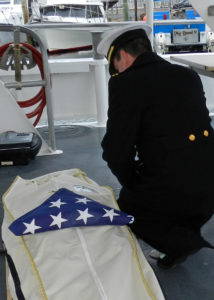 Full Body Military Burial At Sea
